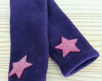 Purple polar mitts / dusty rose