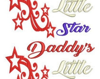 Mommy and Daddy's Little Star Machine Embroidery Design