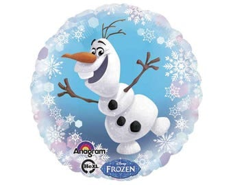 Frozen Olaf Balloons, Olaf Birthday Balloons, Olaf Birthday Decorations, Elsa and Anna Birthday Party, Disney Birthday Party