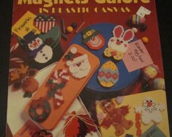 Holiday Magnets Galore in Plastic Canvas Leisure Arts Leaflet 1636