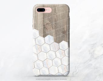 iPhone 7 Case Wood Marble Honeycomb iPhone 7 Plus iPhone 6s Case iPhone SE Case iPhone 6 Case iPhone 5S Case Galaxy S8 Case Galaxy S7 I124