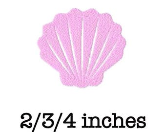 Seashell fish machine embroidery design 2/3/4 inch instant download