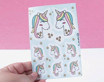 Unicorn Sticker Sheet - Stickers  - Mint