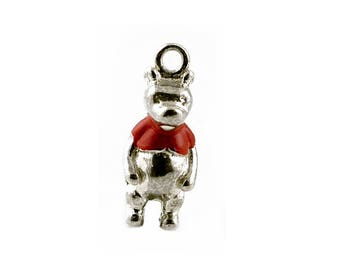 Sterling Silver Storybook Winnie The Pooh Charm For Bracelets