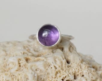 Amethyst Stacking Ring, Size 7 1/4 - Amethyst Ring, Amethyst Jewelry, Stacking Jewelry, Stacker Ring, Sterling Silver Ring Jewelry