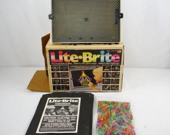 Vintage 80s Milton Bradley Working Lite Brite Retro Toy
