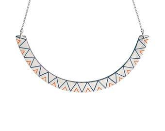 Collier JUNO  - ras de cou - géométrique - minimaliste - bijou pour l'été - or - coloré
