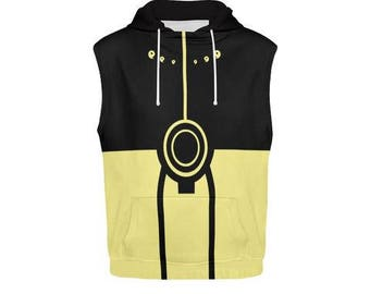 naruto kyuubi mode All Over Print Sleeveless Hoodie for Men FREE SHIPPING world wide!