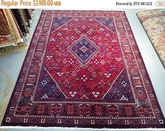 SUMMER CLEARANCE 1990s Hand-Knotted Vintage Josheghan Persian Rug (3692)