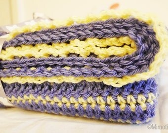 Daffodil and lavender wool for baby/toddler blanket