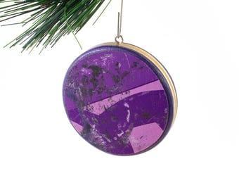 Recycled Skateboard Christmas Ball Ornament
