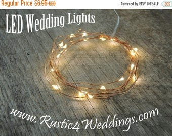 CLEARANCE limited supply LED Battery Operated Fairy Lights, Rustic Wedding Decor, Room Decor, 6.6 ft