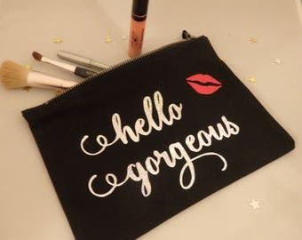 Make up bag, personalised make up bag, bridal party, cute make up bag, Gift for Bridal Party Bags, Bridesmaid gift, stocking filler