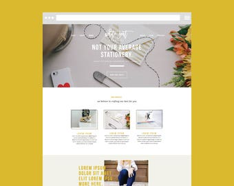 Squarespace DIY WEBSITE TEMPLATE with Graphics: The Modern Day Creative