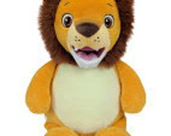Lion Custom Embroidered Stuffed Animal-lion