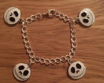 Nightmare Before Christmas Jack Skellington Charm Bracelet