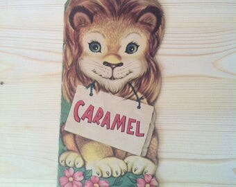 Caramel, french vintage book, Whitman publishind and Co, lion,