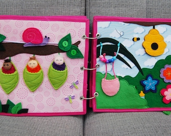 PATTERN & TUTORIAL Quiet book page Fairybook - Fairy babies