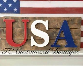 Farmhouse USA Pallet Sign
