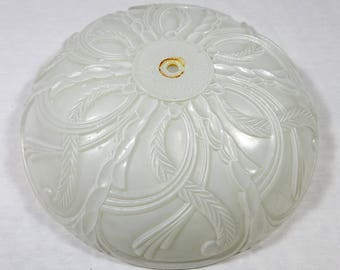 Vintage Mid Century / 1950s - 1960s / Ceiling Light Fixture / Cover / Renovation / Frosted White Glass / Lamp Shade / Architectural Salvage