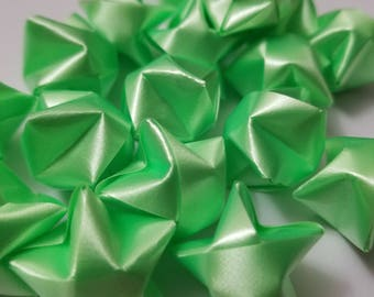 25 Origami Ribbon Lucky Stars (Lime Green)