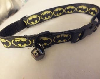 Batman pet collar with bell 12-18 inches