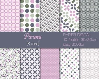 digital paper half shade