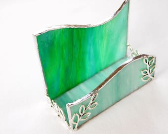 Business Card Holder Stained Glass