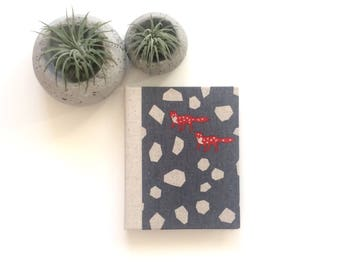 STONE FOXES- Small UNLINED Journal, Handmade Book, Sketchbook, Notebook, Handmade Gift, Ready to Ship