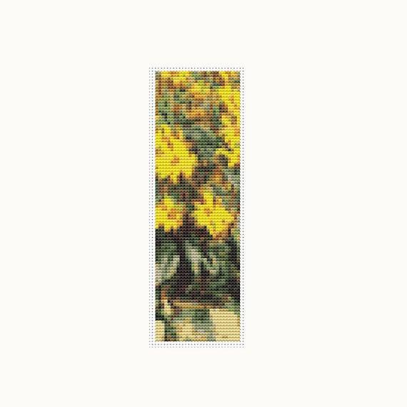 Floral Cross Stitch Kit Jerusalem Artichokes Bookmark
