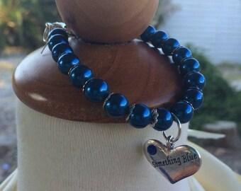 Something Blue Charm Bracelet, Bridal Jewelry