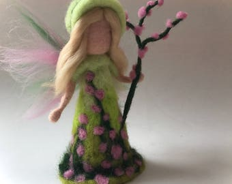 Blossom Fairy.Waldorf. Hand-felted. Needle felted .Waldorf