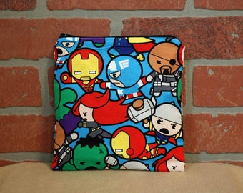 One Sandwich Bag, Reusable Lunch Bags, Waste-Free Lunch, Machine Washable, Avengers, Sandwich Sacks, item #SS89