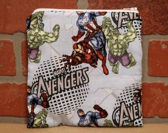 One Sandwich Bag, Avengers, Reusable Lunch Bags, Waste-Free Lunch, Machine Washable, Sandwich Sacks, item #SS76