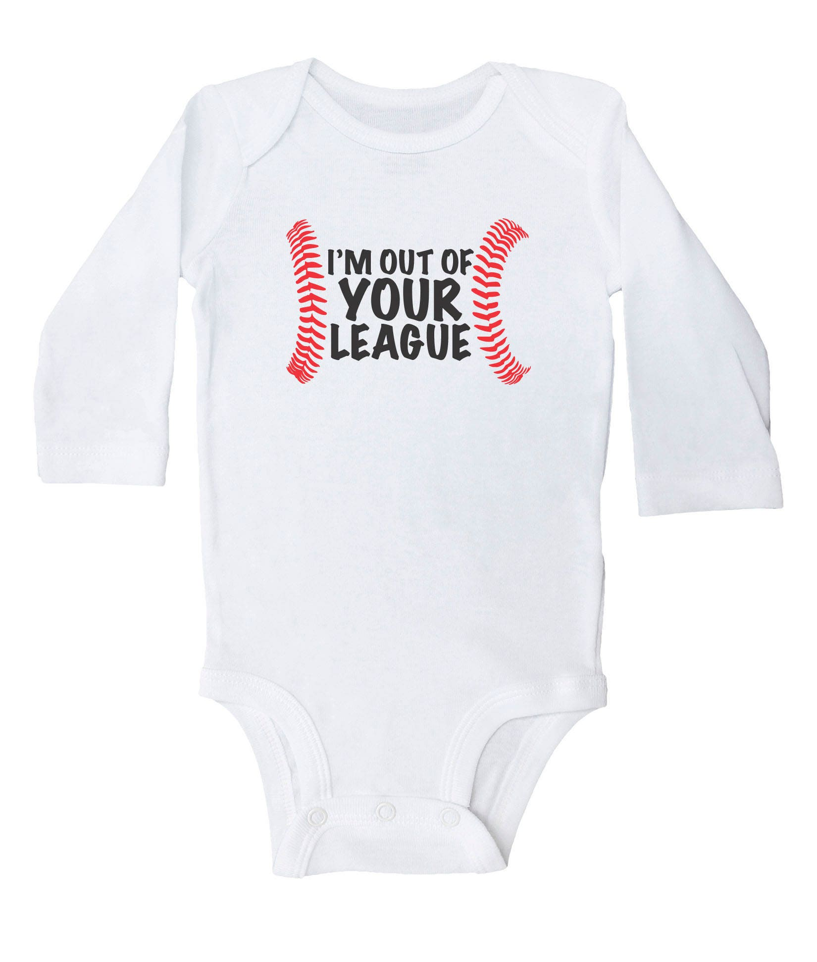 I m Out Your League Funny Baseball Bodysuit for Kids Cute