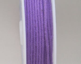 1 METER OF COTTON WAXED 1 MM PURPLE