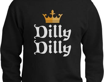 Dilly Dilly Gold Crown St. Patrick's Day Sweatshirt