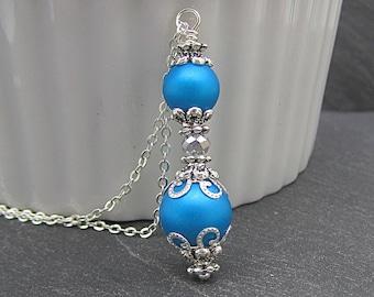 Malibu Blue Bridesmaid Necklace, Capri Bridesmaid Jewellery, Pearl Bridal Jewellery, Blue Bridal Sets, Bridesmaid Gifts, Malibu Blue Wedding