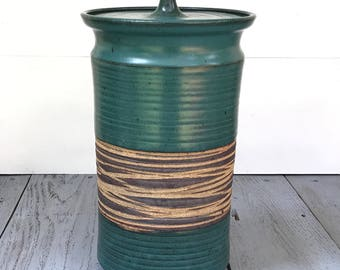 Extra large Victoria Littlejohn lidded canister