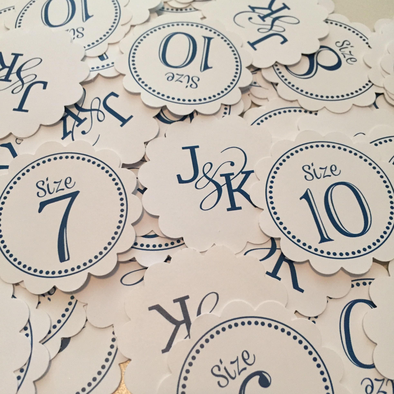 Flip Flop Size Tags for Wedding Guests // Custom Flip Flop