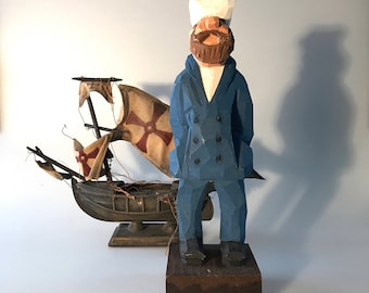 Vintage Carved Sailor
