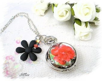 Pocket Watch Silver SO582 flowers