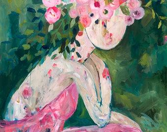 She Became a Rose 72x48 Original Painting