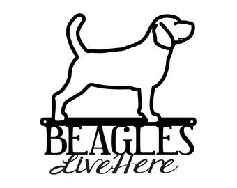"Beagle Metal Wall Art   Metal Sign   Beagles   Dog Sign   Metal Wall Decor   Wall Hanging   Outdoor Sign   Dog Lover   12""W x 9.5""H"