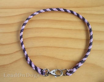 Ready To Go Braided Kangaroo Leather Dog Tag Collar Id Collar Choose from Ready To Go