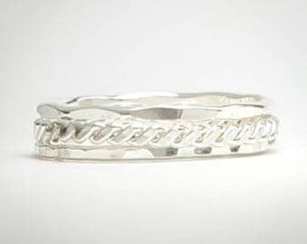 Sterling Silver Thin Stacking Rings- set of 3