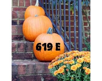 Spooky Vinyl Home Address // Pumpkin Vinyl // Halloween Vinyl // Vinyl Decals // Vinyl House Numbers // Halloween Decor // Custom Decal //