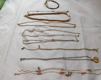 Lot of Gold Necklaces and Bracelet