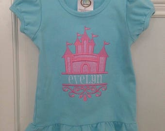 Cinderella's Castle Appliqued Shirt