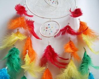 Rainbow Double Hoop Dreamcatcher